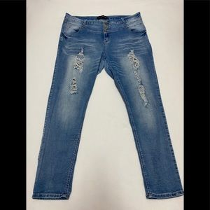 Rue21 High Waist Skinny Distressed Jeans 22R